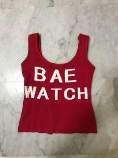 bae watch crop top / spag top