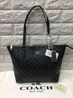 Coach Shoulder Bag with Zipper