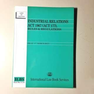 Law Book/Statutes Industrial Relations Act 1967