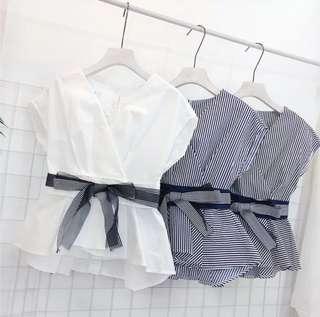韓版收腰白色娃娃衣 White Clothes/ Shirts