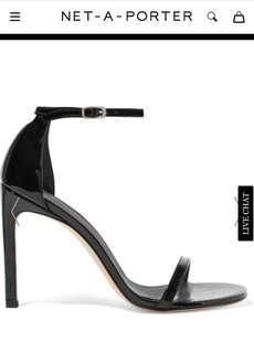 Stuart Weitzman black strappy heels