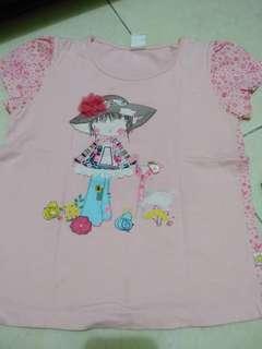 Kaos anak perempuan size L