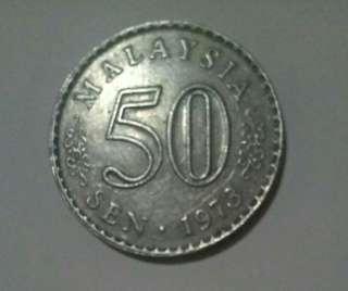 1973 - Syiling lama 50sen