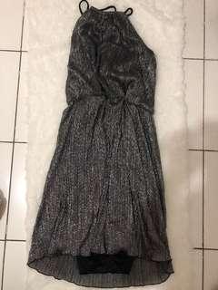Dress sequin black midi