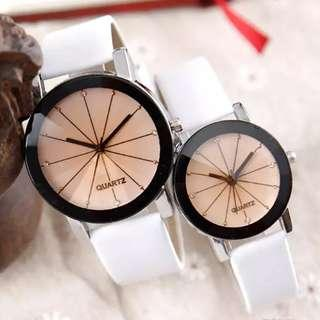 Couple Leather (steel)  Strap Watch