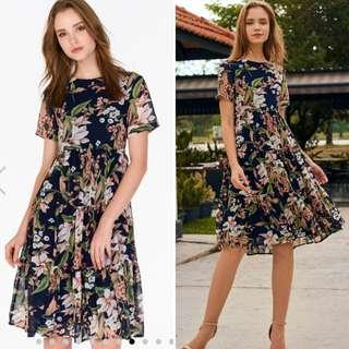 The Closet Lover - Adriella Floral Printed Midi Dress