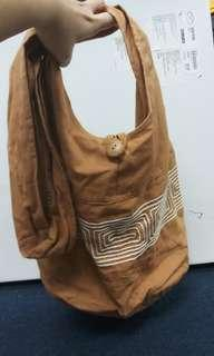 Thailand 100% cotton hippie hobo lama monk sling crossbody bag free gift turkish woven coin pouch