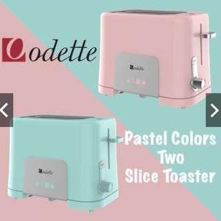 *FREE REGISTERED DELIVERY*Odette - Pastel Toaster /Local Warranty /SG Safety Mark
