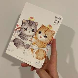Meow cute cat notebook