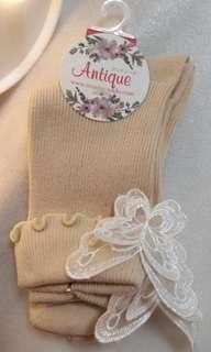 日本少女蝴蝶襪 卡奇色 (買滿3對有9折)