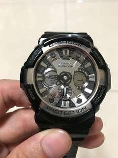卡西歐 CASIO G-SHOCK PROTECTION 銀黑錶
