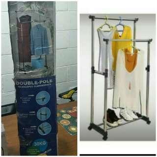 Double pole Clothes Rack