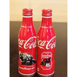 可口可樂日本限定2018鈴鹿賽車8小時41st鋁瓶 (1套2支)