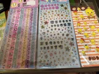全新貼紙3張(翠怡立體+史迪仔+熊貓) 只售15蚊