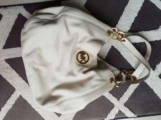 Michael Kors leather shoulder bag.
