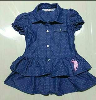 Dress (authentic POLO baby girls)  for 6mth to 1 year