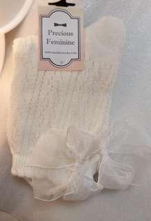 超靚白色日本少女蝴蝶襪 💖我至愛 (買滿3對有9折)