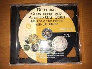 Detecting Counterfeit Altered US coins 2 DVDs