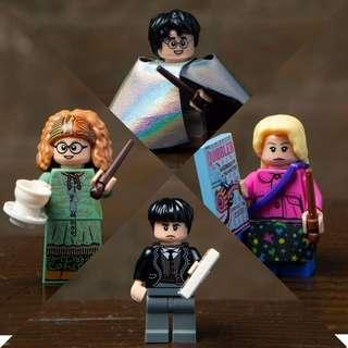 Lego Harry Potter Fantastic Beast 71022 Set of 4 Rares. Invisibility Cloak. Credence Barebone. Professor Sybill Trelawney. Luna Lovegood. Sealed Pack. WTT WTB WTS. Not Lego Mosaic Percival Graves Hogwarts Castle Train City Ninjago Friends Technic Creator