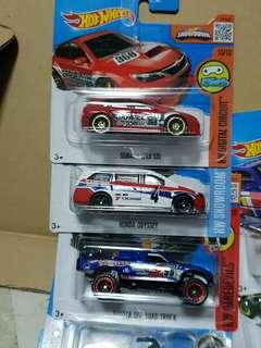 3x Hot Wheel Cars