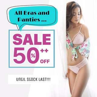 Lingeries on Sale: all 50%