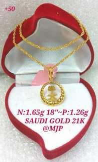 NECKLACE AND PENDANT 18K