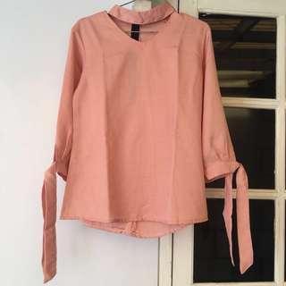 blouse (atasan) peach #kemeja50