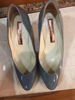 Rupert Sanderson London blue heels