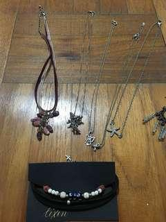 Assorted Necklaces, Earrings, Studs and Bracelet