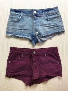Topshop Shorts (Low Waisted)