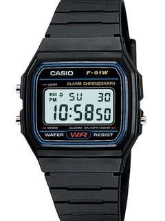 CASIO MEN'S CLASSIC BLACK DIGITAL RESIN STRAP WATCH