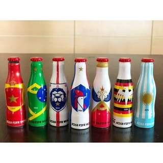 可口可樂2018世界杯迷你鋁瓶7枝  Coca Cola 2018 World Cup mini aluminum bottles 7 piecess (交收物品見圖)