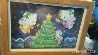 Hello Kitty 木架畫