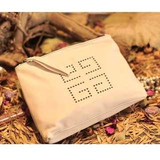 Instock! Givenchy Parfum Perforated Logo Pouch/ Cosmetic Pouch / Clutch / Case (Nude) ASC3281 + FREE Post!