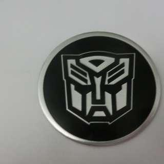 Brand new rare TRANSFORMER aluminum bendable logo sticker.Hot selling only 1 pc remaining! Perfect for bike head badge.