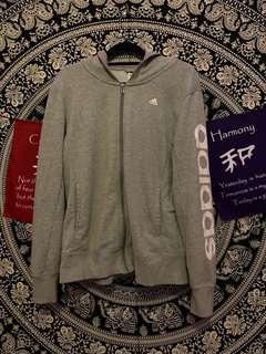 grey adidas jacket ☆