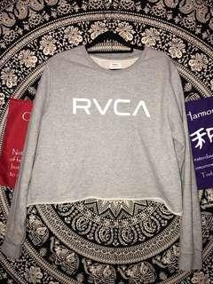 rvca grey jumper ☆
