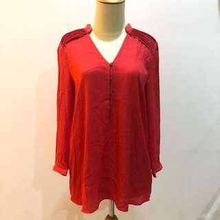 Mango Red Blouse