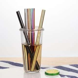 Gold Metal Straw Set