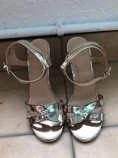 Zalora Reflection Golden High Heels