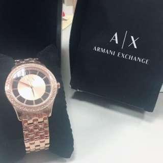 🚚 A/X玫瑰金鑲鑽手錶(正品)