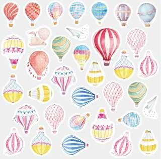 🚚 [In stock] 35 pcs hot air balooon stickers pack