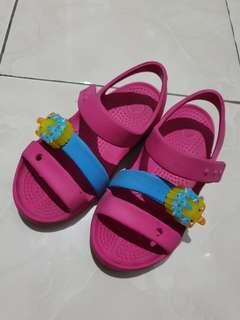 Crocs pink sepatu sandal uk 10