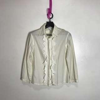 Oscar de la Renta Ruffled Button Down Shirt