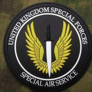New Charming United Kingdom Special Air Forces sew on patch ,comes with velcro so you can remove when washing,very high quality material.Only 2 pcs left.