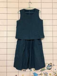 🚚 僅穿一次WEME專櫃兩件式洋裝
