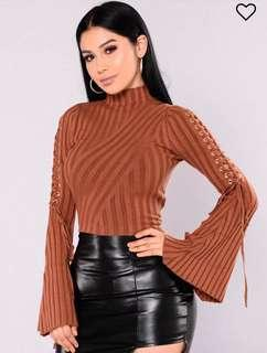 Brown Long Sleeve Turtle Neck - Brand New w Tags - Size XL