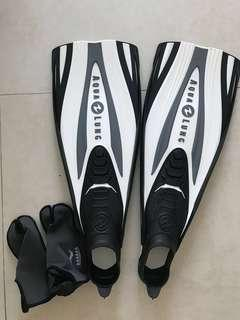 Aqualung express full foot scuba diving fins