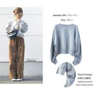 Korean japanese style loose sweatshirt sweater