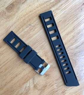 High Quality Rubber Diver Strap (Black)